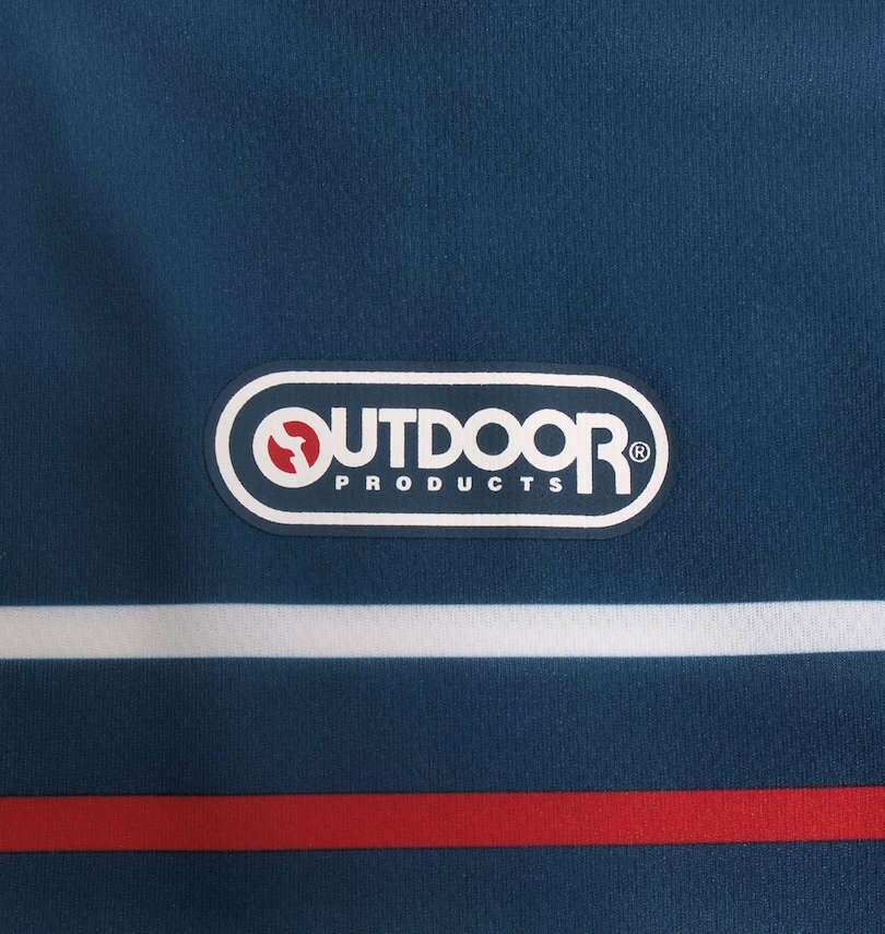 OUTDOOR PRODUCTS DRYメッシュパネルボーダー半袖Tシャツ プリント拡大
