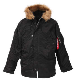 ALPHA INDUSTRIES N-3B TIGHT FAKE FUR ジャケット